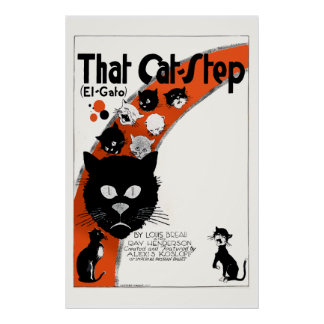 That Cat Stop - El Gato Large Poster