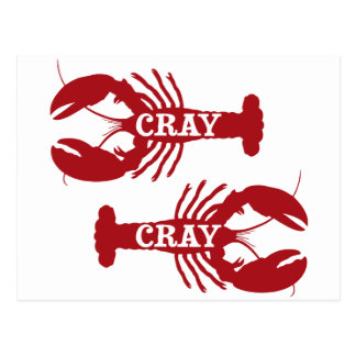 That Cray Cray Crayfish Crustacean Postcard