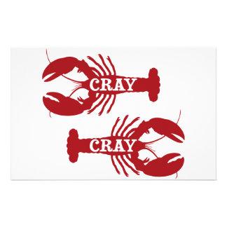 That Cray Cray Crayfish Crustacean Stationery