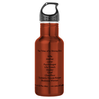 that describe Strong Women Stainless Steel Water Bottle