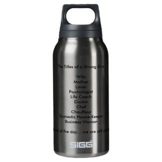 that describe Strong Women Thermos Water Bottle