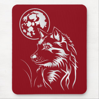 That dreaming young wolf mouse PAD