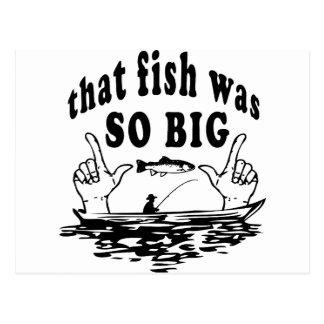 That Fish Was So Big! Postcard