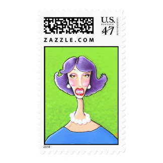 That funny lady... postage stamp