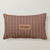 That Fuzzy Texture Seventies Brown Pattern Lumbar Pillow