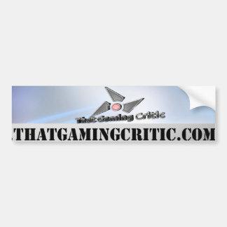 That Gaming Critic Bumper Sticker