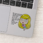 That girl sticker