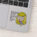 That girl sticker