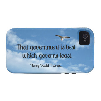 That government is best which governs least. iPhone 4 case
