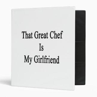 That Great Chef Is My Girlfriend Vinyl Binders