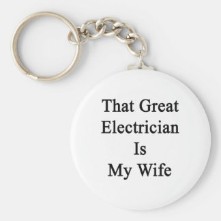 That Great Electrician Is My Wife Keychains
