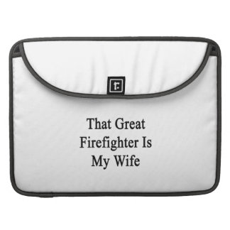 That Great Firefighter Is My Wife