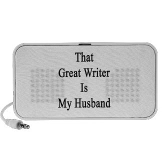 That Great Writer Is My Husband Portable Speaker
