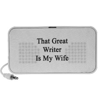 That Great Writer Is My Wife Portable Speakers