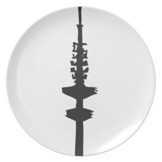 That Hamburg TV tower Plate