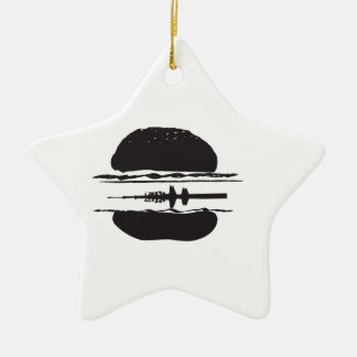 That Hamburgers Ceramic Ornament