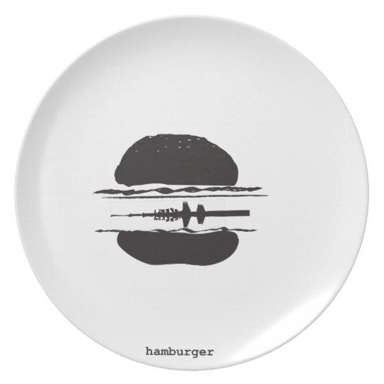 That Hamburgers Dinner Plate
