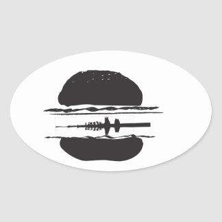 That Hamburgers Oval Sticker