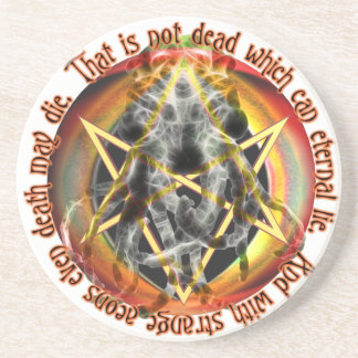 That is not dead which can eternal lie drink coaster