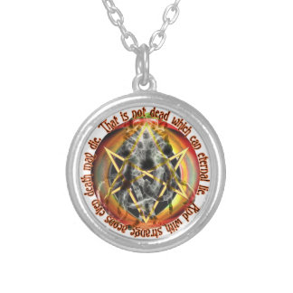 That is not dead which can eternal lie personalized necklace