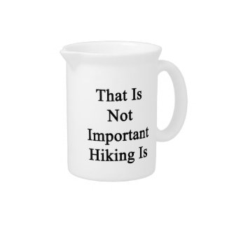 That Is Not Important Hiking Is Pitcher