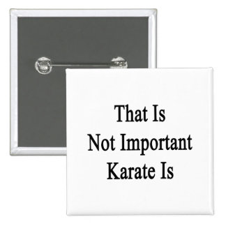 That Is Not Important Karate Is Buttons