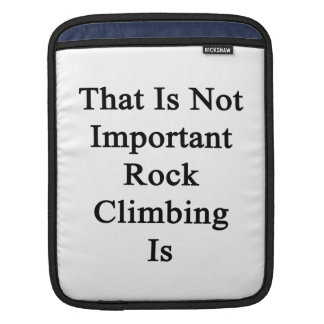 That Is Not Important Rock Climbing Is Sleeve For iPads