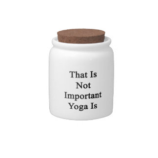 That Is Not Important Yoga Is Candy Dish