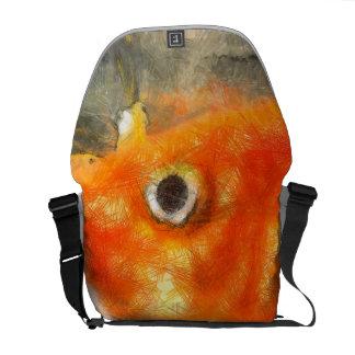 That large eye messenger bag