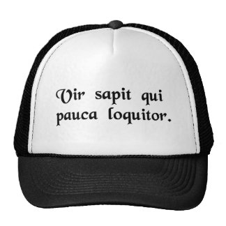 That man is wise who talks little. hats