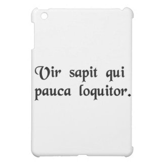 That man is wise who talks little. iPad mini cover