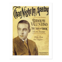 That Night in Araby Vintage Songbook Cover Postcard