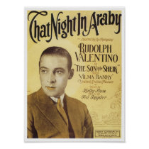 That Night in Araby Vintage Songbook Cover Poster