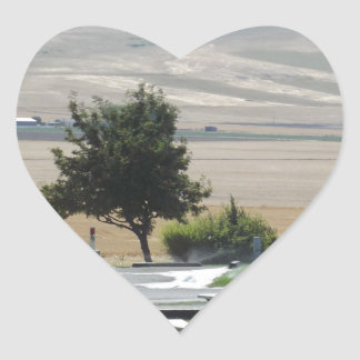 That Pendleton Hill from the Campground Heart Sticker