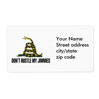 That Really Rustled My Jimmies Custom Shipping Labels