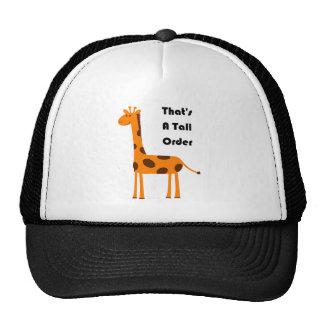 That's a Tall Order Orange Giraffe Cartoon Trucker Hat