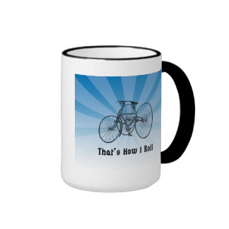 That s How I Roll Vintage Bicycle Mug Blue