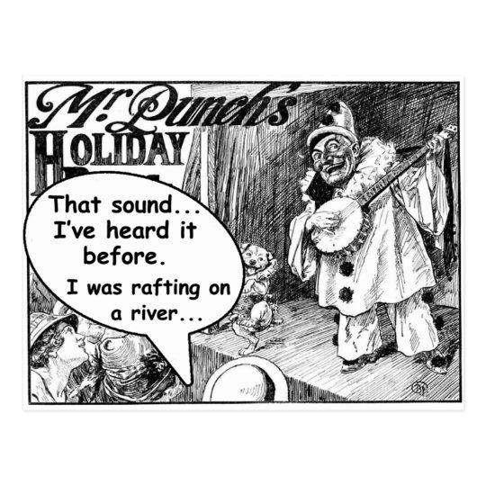 That Sound! (Evil Banjo Clown) Postcard