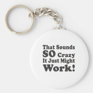 That Sounds So Crazy It Just Might Work! Keychain
