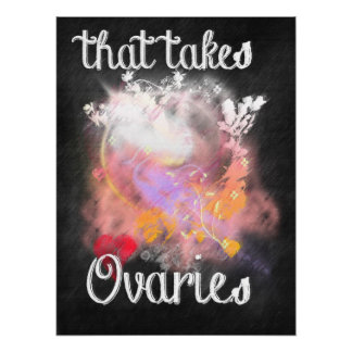 That Takes Ovaries Feminist Poster