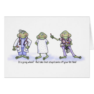 That Thermometer is Going WHERE?  Funny Frogs Card