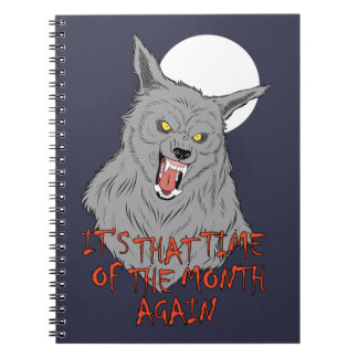 """That Time of the Month"" Spiral Photo Notebook"