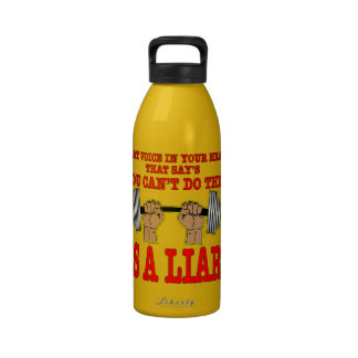 That Voice In Your Head Is A Liar (Weightlifting) Reusable Water Bottle