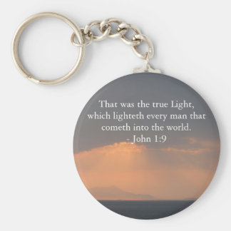 That was the true Light, which lighteth every man Basic Round Button Keychain