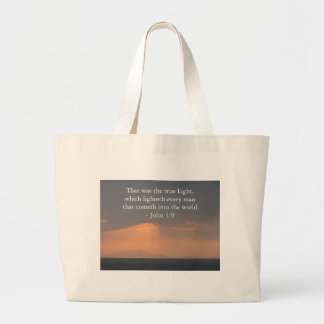 That was the true Light, which lighteth every man Jumbo Tote Bag