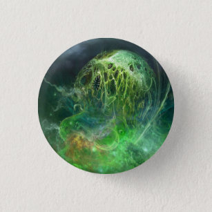 That Which Cannot Be Described Lovecraftian Horror Pinback Button
