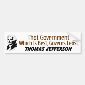 That Which Governs Least Bumper Sticker