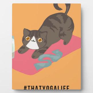 That Yoga Life Basic Cat Plaque