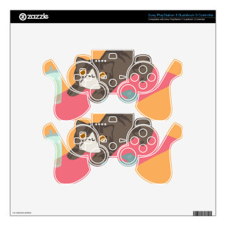 That Yoga Life Basic Cat Decal For PS3 Controller