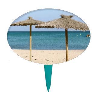 Thatch Beach Umbrellas Cake Picks